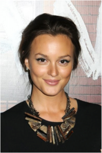Leighton Meester in an attention grabbing necklace