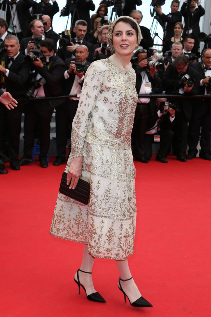 leila hatami in a 180 year old vintage persian 18k gold