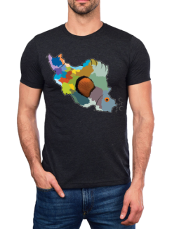 iran map tshirt
