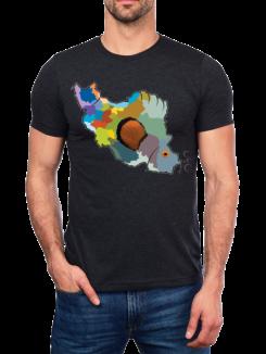 iran map tshirt