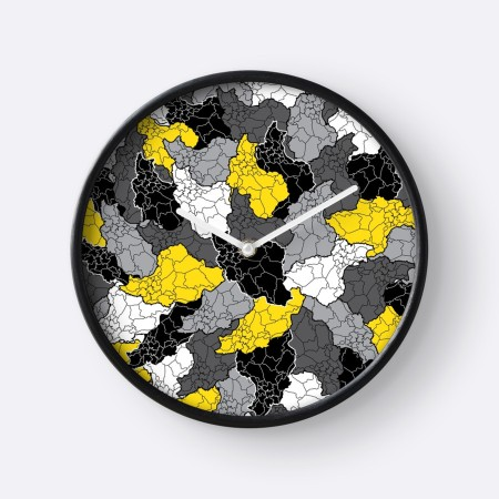 Iran map clock
