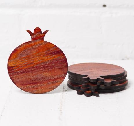 Pomegranate coasters ALANGOO.com