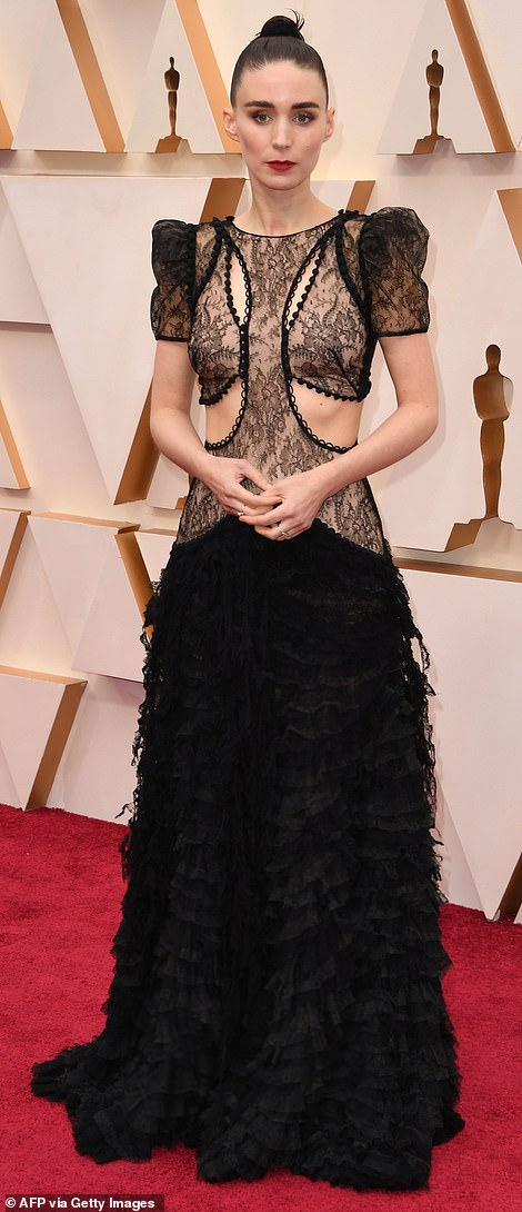 Rooney Mara's very gothic lace dress allowed her to show off a lot of skin, but the overall effect was more spooky than sexy