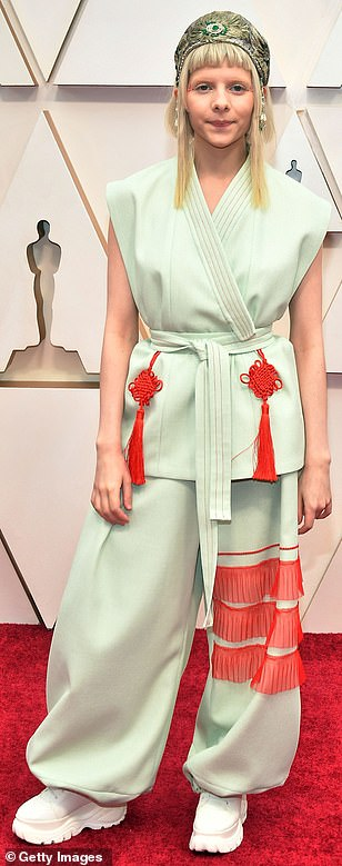 Singer Aurora wore a very unique outfit that certainly made her stand out from the crowd but not for the right reasons